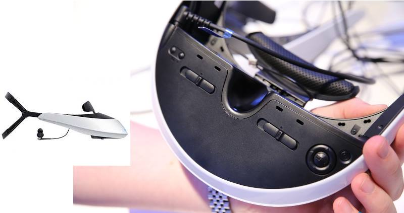 На ней размещены клавиши, который настраивают линзы в мониторах