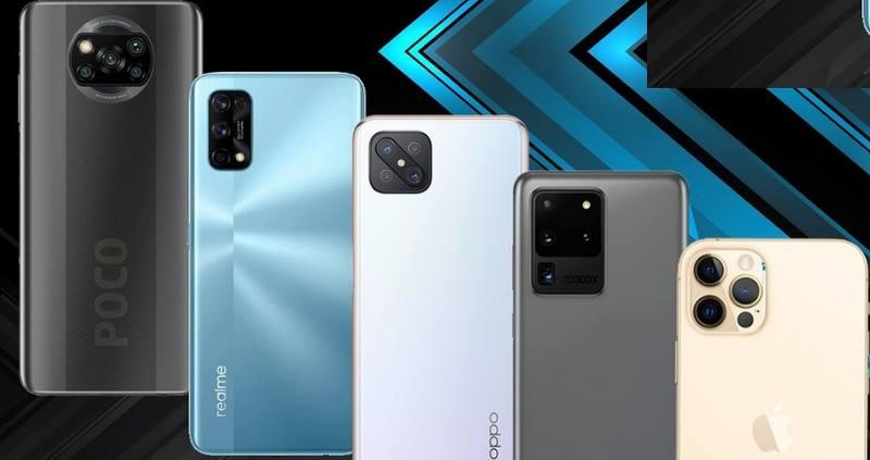 5 смартфонов